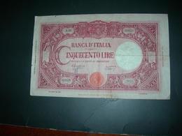 "Italia 500 Lire Grande ""C"" - [ 1] …-1946 : Reino"