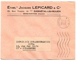 SEINE MARITIME - Dépt N° 76 = DARNETAL 1966 = FLAMME à DROITE PP / Port Payé = SECAP Muette '5 Lignes Ondulées' - Marcophilie (Lettres)