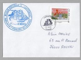 ARMADA ROUEN 2019 - CUAUHTEMOC ( Mexique ) Sur Enveloppe Du 14 Juin 2019- - Poststempel (Briefe)