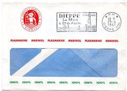 SEINE MARITIME - Dépt N° 76 = DIEPPE Ppal 1961 = FLAMME PP = SECAP à Gauche ' MER à 2 H De PARIS ' + En-tête BIOMARINE - Marcophilie (Lettres)