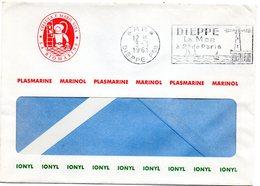 SEINE MARITIME - Dépt N° 76 = DIEPPE Ppal 1961 = FLAMME PP = SECAP à Droite ' MER à 2 H De PARIS ' + En-tête BIOMARINE - Marcophilie (Lettres)
