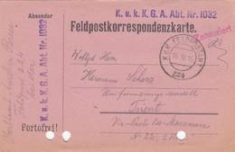 9738-FRANCHIGIA - AUSTRIA - K.U.K. FELDPOSTAMT 224 - 16-11-1916 - Covers & Documents