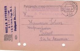 9739-FRANCHIGIA - AUSTRIA - K.U.K. FELDPOSTAMT 242 - 12-9-1916 - Storia Postale
