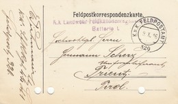 9740-FRANCHIGIA - AUSTRIA - K.U.K. FELDPOSTAMT 320 - 9-10-1916 - Storia Postale