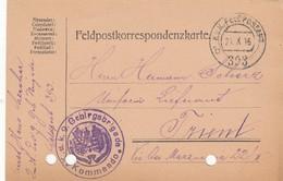 9742-FRANCHIGIA - AUSTRIA - K.U.K. FELDPOSTAMT 393 - 21-10-1916 - Storia Postale