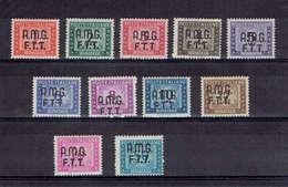 TP ITALIE - TRIESTE - ZONE ANGLO AMERICAINE - TAXE N° 5 A 15* - TTB - De 1947 - 7. Triest