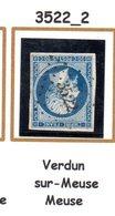 France : Petit Chiffre N° 3522 Verdun  ( Meuse ) Indice 2 - Marcophilie (Timbres Détachés)