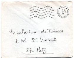 SEINE MARITIME - Dépt N° 76 = GOURNAY En BRAY 1967 = FLAMME Codée PP / Port Payé = SECAP Muette '5 Lignes Ondulées' - Marcophilie (Lettres)