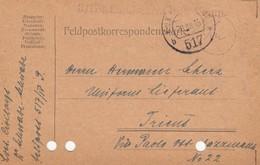 9748-FRANCHIGIA - AUSTRIA - K.U.K. FELDPOSTAMT 517 - 20-12-1916 - Covers & Documents