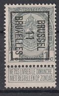"""BELGIË - PREO - Nr 17 B - BRUSSEL """"11"""" BRUXELLES - (*) - Precancels"""