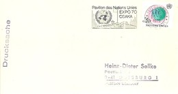 POSTMARKET   ONU - 1970 – Osaka (Japan)
