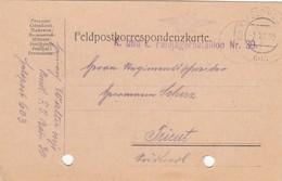 9750-FRANCHIGIA - AUSTRIA - K.U.K. FELDPOSTAMT 603 - 8-7-1915 - Storia Postale