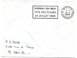 SEINE MARITIME - Dépt N° 76 = GOURNAY En BRAY 1969 = FLAMME PP = SECAP '20 JUILLET / FETE Des FLEURS ' - Marcophilie (Lettres)