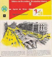 """METRO DE BRUXELLES - """"De Brouckère"""" - LIGNES 1 Et 3 (Dépliant 4) - Unclassified"""