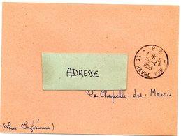 SEINE MARITIME - Dépt N° 76 = LE HAVRE 1953 =  CACHET MANUEL A8 + PP + Carte Laboratoire CURATINE - Cachets Manuels
