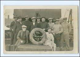 Y15986/ Handelsschiff S/S Thorn 19.4.1929  Mannschaft Foto AK  - Handel