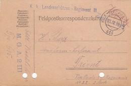 9753-FRANCHIGIA - AUSTRIA - K.U.K. FELDPOSTAMT 615 - 13-9-1916 - 1850-1918 Empire