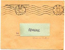 SEINE INFERIEURE - Dépt N° 76 = LE HAVRE 1952 (BD 3 Lignes) = FLAMME PP = RBV  '5 Lignes Ondulées' - Storia Postale