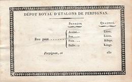 182. - DÉPÔT ROYAL D'ÉTALONS DE PERPIGNAN - Historische Dokumente