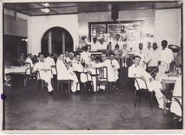 3 Photos Anciennes  Gabon Marine Guerre Repas Groupe Coloniale - Guerra, Militares
