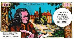 """SOUSCRIPTION Pour Le Quotidien """"LIBÉRATION"""" 100.000 Personnes Donnent 10 F LE JOURNAL PARAIT 1941-1964 - Documents Historiques"""