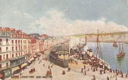 """""""Dieppe. Lavant Port. Gare Maritime"""" Tuck Oilette France Villes De France Ser PC # 112 - Tuck, Raphael"""