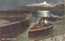 """""""Dieppe. Entree Du Port"""" Tuck Oilette France Villes De France Ser PC # 112 - Tuck, Raphael"""