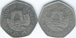 Jersey - Elizabeth II - 50 Pence - 1997 (KM68.2) & 2009 (KM108) - Jersey