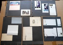 Menu Lot De 33 Pages D'un Album De Représentant Avec 77 Menus Années '30 - Menus