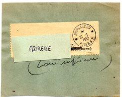 SEINE MARITIME - Dépt N° 76 = ROUEN RP 1953 =  CACHET MANUEL Non Codé A7 JOURNAUX PP - Cachets Manuels
