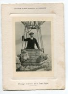 PHOTOGRAPHIE 0224 Souvenir Mon Ascension En Sphérique Montgolfiere Tour Eiffel 23 Juillet 1914  Dim 7,5 Cm X  10,5  Cm - Photos