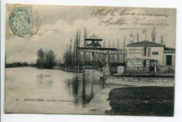 16 ANGOULEME Le Pont L'Houmeau Grue Manutention Canal Buvette Au Rendez Vous Des Baigneurs  1906 Timb    D08 2020 - Angouleme