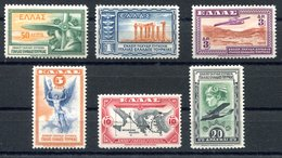 RC 17138 GRECE COTE 60€ PA N° 8 / 13 SERIE SAUF DERNIERE VALEUR NEUF ** TB MNH VF - Airmail