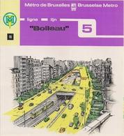 """METRO DE BRUXELLES - """"Boileau"""" - LIGNE 5  (Dépliant 16) - Non Classés"""