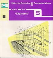 """METRO DE BRUXELLES - """"Diamant"""" - LIGNE 5  (Dépliant 8) - Non Classés"""