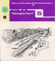 """METRO DE BRUXELLES - """"Georges Henri"""" - LIGNE 5  (Dépliant 9) - Unclassified"""