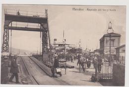 Messina, Approdo Del Ferry Boat, Super Animata  - F.p. - Anni '1910 / '1920 - Messina