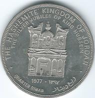 Jordan - AH1397 (1977) - Hussein Silver Jubilee - Quarter Dinar - KM30 - Jordania