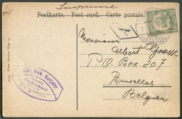 NAMIBIE NAMIBIA  - 5pfg Obl. Dc SWAKOPMUND Sur C.P. (Hotel GLÖDITZSCH OTJIMBINGWE) Du 2/3 1906 Vers Bruxelles. - 15543 - Colonie: Afrique Sud-Occidentale