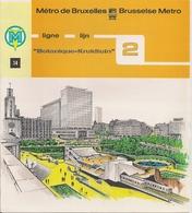 """METRO DE BRUXELLES - """"Botanique"""" - LIGNE 2 (Dépliant 14) - Non Classés"""