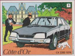 Sticker Autocollant Aufkleber Strip Cartoon Stripfiguur Tintin Kuifje Citroen CX 2200 Cote D'Or 1984 Bobbie Milou Snowy - Adesivi