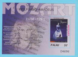 J.P.S. 7 -Musique - Timbre - Compositeur - N° 16 - Palau - Mozart - N° Yvert BF 196 - Musique