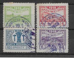 Pologne - Locaux Rada Miejska - Oblitérés - TB - ....-1919 Übergangsregierung