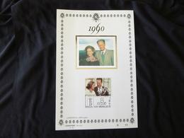 "BELG.1990 2396 FILATELIC CARD FDC Lim.edition 1000 Ex : "" KON.HUWELIJK / MARIAGE ROYAL "" - FDC"