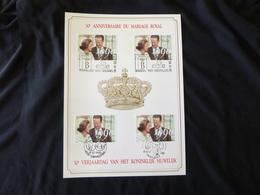 "BELG.1990 2396 FILATELIC CARD FDC  : "" KON.HUWELIJK / MARIAGE ROYAL "" - FDC"