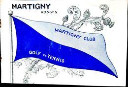 88 MARTIGNY  GOLF RARE PLAQUETTE PUBLICITAIRE POUR LE GOLF TENNIS DE MARTIGNY CLUB LE PLUS GRAND DE FRANCE  VERS 1900 - Golf