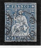 Suisse N°27 - Oblitéré - TB - Gebraucht