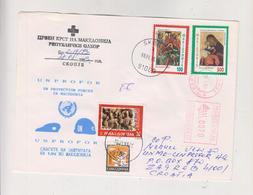 MACEDONIA 1993 SKOPJE UNPROFOR Nice Cover To Croatia - Macedonia