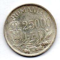 ROMANIA, 25.000 Lei, Silver, Year 1946, KM #70 - Roumanie
