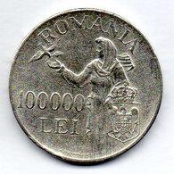 ROMANIA, 100.000 Lei, Silver, Year 1946, KM #71 - Romania